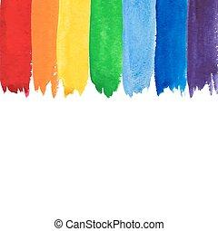 Un arco iris acuarela