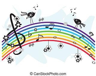 Un arco iris musical