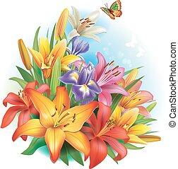 Un arreglo de flores