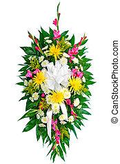 Un arreglo floral colorido