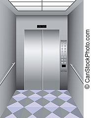 Un ascensor de construcción
