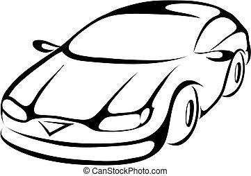 Un auto de dibujos animados