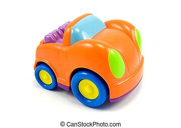 Un auto de plástico