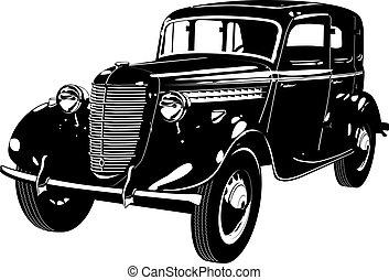 Un auto de repuesto