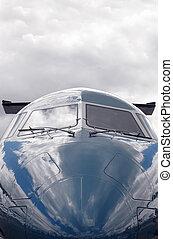 Un avión de negocios