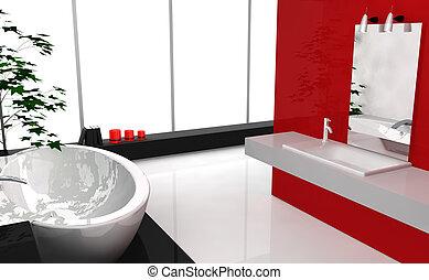 Un baño de lujo moderno