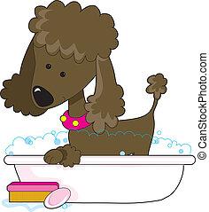 Un baño marrón