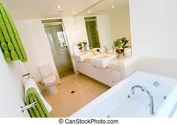 Un baño moderno lujoso