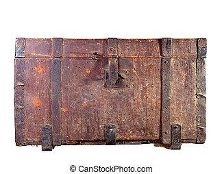 Un baúl de madera antiguo
