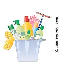 Un balde de limpieza