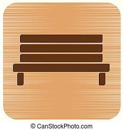Un banco de madera al aire libre