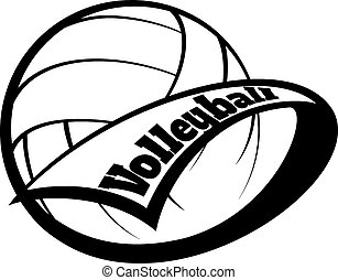 Un banderín de voleibol con letra