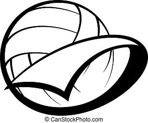 Un banderín de voleibol