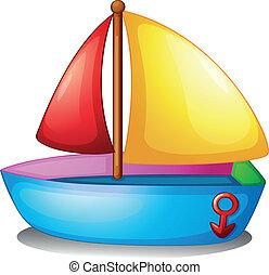 Un barco colorido