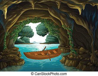 Un barco en la cueva