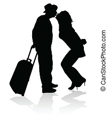 Un beso por un viaje negro seguro