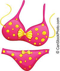 Un bikini rosa
