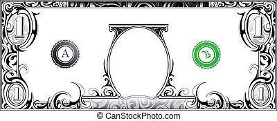 Un billete de dólar