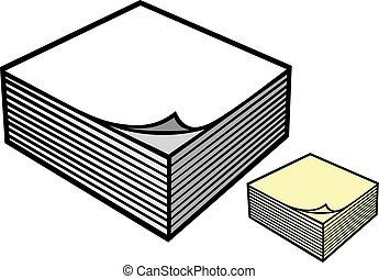 Un bloque de billetes