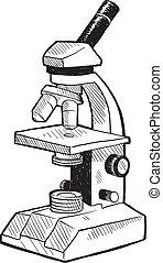 Un boceto de microscopio
