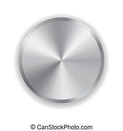 Un botón de metal realista