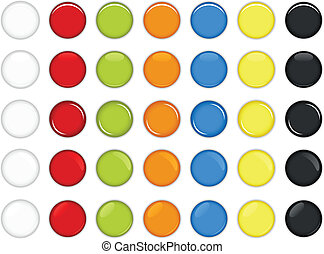 Un botón redondo colorido