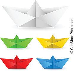 Un bote de papel de Origami