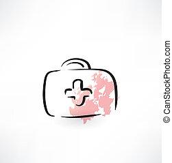 Un botiquín de primeros auxilios