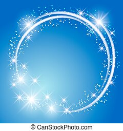 Un brillante fondo azul con estrellas
