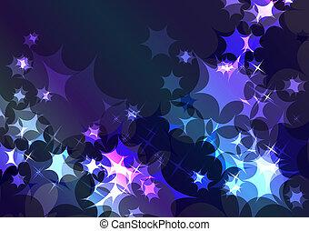 Un brillante fondo azul festivo