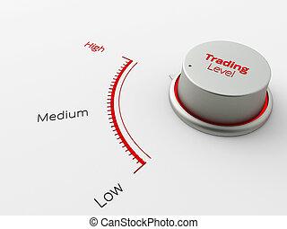 Un Button muestra alto nivel para los negocios