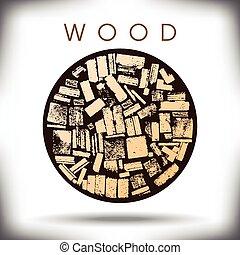 Un círculo gráfico de madera
