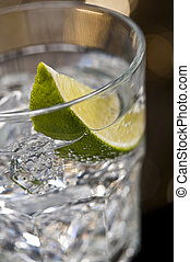 Un cóctel gin tonic