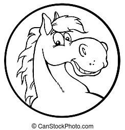 Un caballo de dibujos animados