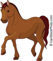 Un caballo pura sangre