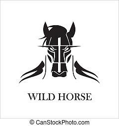 Un caballo salvaje y peludo
