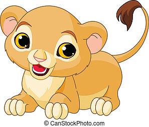 Un cachorro de león raro