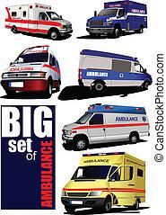 Un camión de ambulancias moderno.
