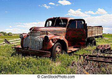 Un camión de granja clásico