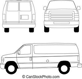 Un camión de reparto