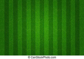 Un campo de fútbol verde