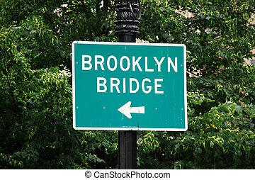 Un cartel de Brooklyn