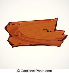Un cartel de madera marrón