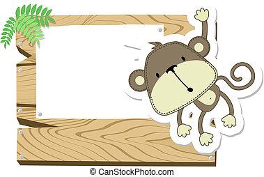 Un cartel de mono bebé