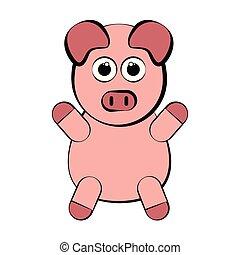 Un cerdo precioso