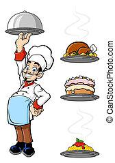 Un chef alegre