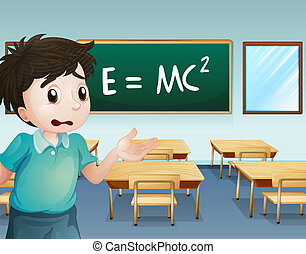Un chico en el aula