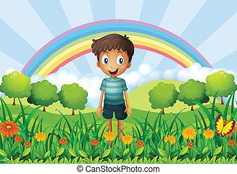 Un chico en el campo