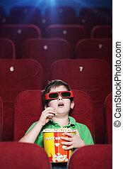Un chico en el cine 3D