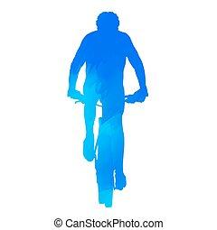 Un ciclista de montaña